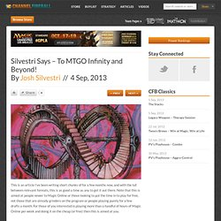 » Silvestri Says – To MTGO Infinity and Beyond!
