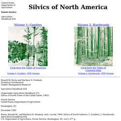 Silvics Manual: Guide To N. American Tree Species
