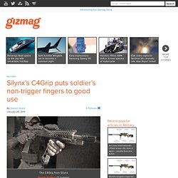 Silynx's C4Grip puts soldier's non-trigger fingers to good use