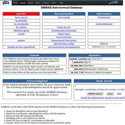 SIMBAD Astronomical Database