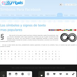 Los símbolos y signos de texto mas populares