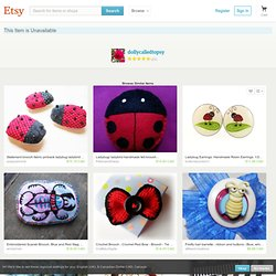 Girls accessory ladybird brooch pin crochet in by dollycalledtopsy