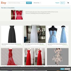 Items similar to 2014 Handmade prom dress Draped Red Chiffon Prom Gown ,Dresses, Wedding Dress,Evening Dress,prom dress