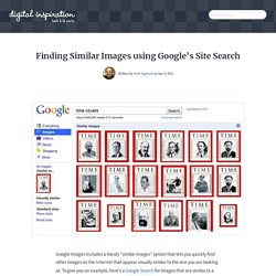 Find Similar Images on a Website with Google