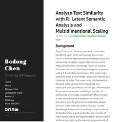 Analyze Text Similarity with R: Latent Semantic Analysis and Multidimentional Scaling