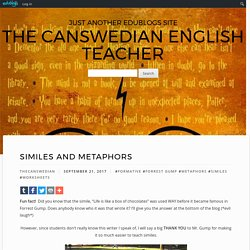 Similes and Metaphors – The Canswedian English Teacher