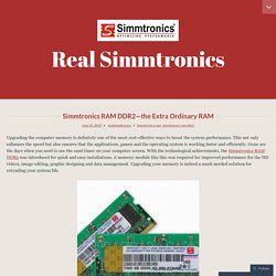 Simmtronics RAM DDR2—The Extra Ordinary RAM