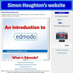 Simon Haughton's Blog: Edmodo