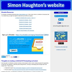 Simon Haughton's website: ICT Lesson Plans and Ideas