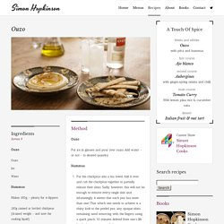 Simon Hopkinson Recipe - Ouzo