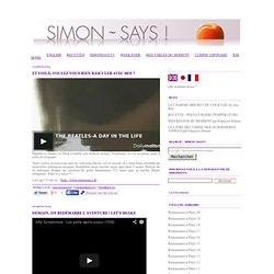 Simon Says le blog de Francois Simon