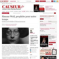 Simone Weil, prophète pour notre temps