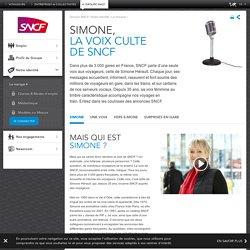 Simone, la voix culte de SNCF
