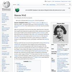Simone Weil - Wikipedia