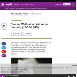 Simone Weil ou la brûlure de l'écoute (1909-1943)