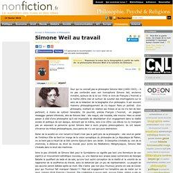 Simone Weil au travail