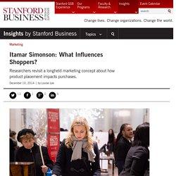 Itamar Simonson: What Influences Shoppers?