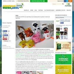 Elabora simpáticos animales de granja reciclando tubos de cartón