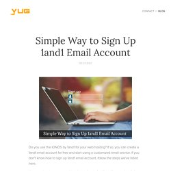 Simple Way to Sign Up 1and1 Email Account