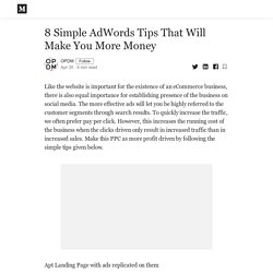 8 Simple AdWords Tips That Will Make You More Money