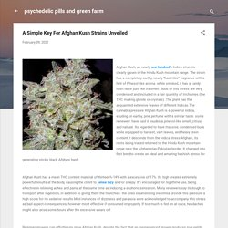 A Simple Key For Afghan Kush Strains Unveiled