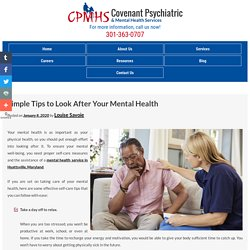 Simple Tips to Look After Your Mental Health
