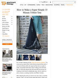 How to Make a Super Simple 15 Minute T-Shirt Tote | Apartment Therapy San Francisco