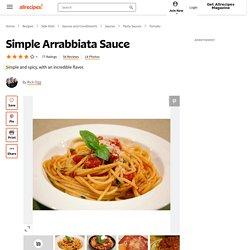 Simple Arrabbiata Sauce Recipe