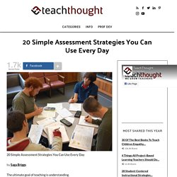 20 Simple Assessment Strategies You Can Use Every Day