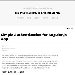 Simple Authentication for Angular.js App