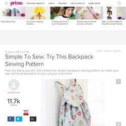 Simple To Sew: Backpack Sewing Pattern
