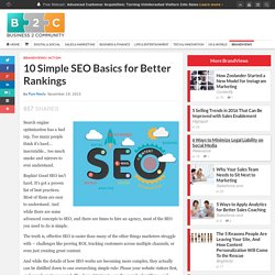 10 Simple SEO Basics for Better Rankings