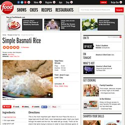 Simple Basmati Rice Recipe