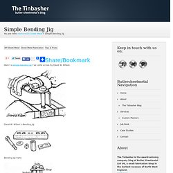 Simple Bending Jig - The Tinbasher