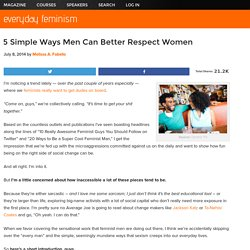 5 Simple Ways Men Can Better Respect Women