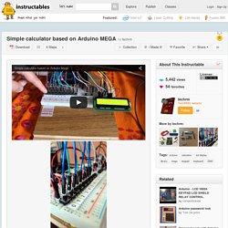 Simple calculator based on Arduino MEGA