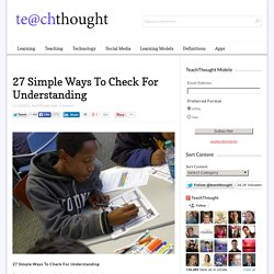 27 Simple Ways To Check For Understanding