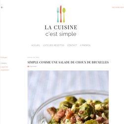 Salade tiède de choux de Bruxelles
