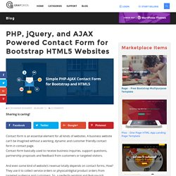 Simple PHP-AJAX Contact Form for Bootstrap and HTML5