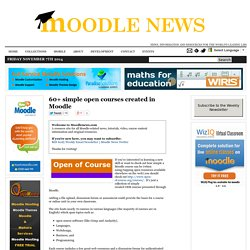 60+ simple open courses created in Moodle