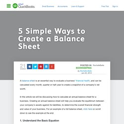 5 Simple Ways to Create a Balance Sheet