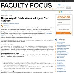 Simple Ways to Create Videos to Engage Your Students