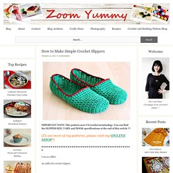 How to Make Simple Crochet Slippers « Crafts
