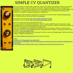 SIMPLE CV QUANTIZER