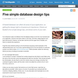 Five simple database design tips