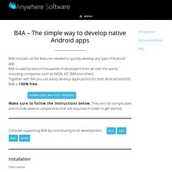 B4A – The simple way to develop native Android apps