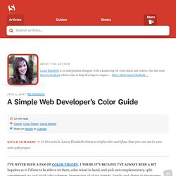 A Simple Web Developer's Guide To Color