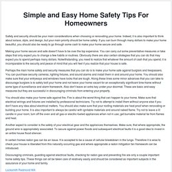 Simple and Easy Home Safety Tips For Homeowners