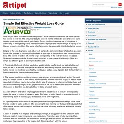 Simple But Effective Weight Loss Guide
