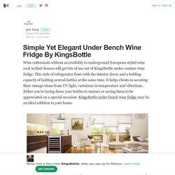 Simple Yet Elegant Under Bench Wine Fridge By KingsBottle
